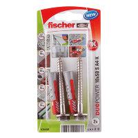 Fischer plug met zeskant schroef, rvs, type DuoPower