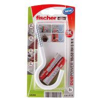 Fischer plug met ronde nylon haak, type DuoPower