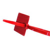 SapiSelco kabelbinders met markerlabel, rood