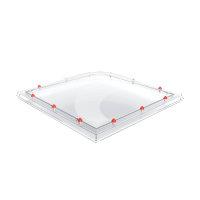Skylux polycarbonaat lichtkoepel, 1-wandig, helder