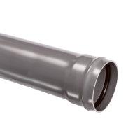 Pvc afvoerbuis met aangevormde manchetmof, grijs