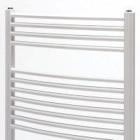 Zehnder design handdoekradiator, wit, recht, breedte 500 mm