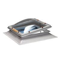 Skylux polyester opstand incl. lichtkoepel, dubbelwandig, spindel en ventilatieraam