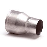 Aluminium verloopstuk, inwendig x verjongd spie