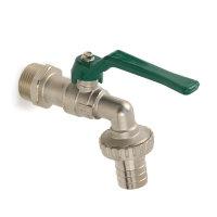 RIV messing verchroomde tap-kogelafsluiter