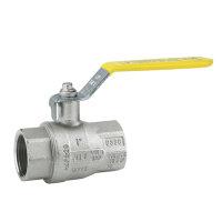 RIV messing verchroomde gaskogelafsluiter, type 7163, 2x binnendraad