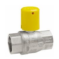 RIV messing verchroomde gaskogelafsluiter, type 7166, 2x bi.dr.