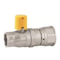 RIV messing verchroomde gaskogelafsl., type 7170, bi.dr. x buisverbinding