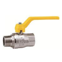RIV messing verchroomde gaskogelafsluiter, type 7220, bu.dr. x bi.dr.