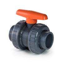 VDL pvc kogelafsluiter, 2x inwendig lijm/2x wartel