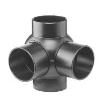 Pe afvoerkogel T-stuk 2-voudig 88,5°, 90°, 4x spie