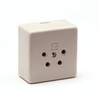 Isotel telefooncontactdoos voor 4-polig contactstop