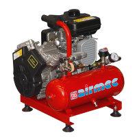 Airmec draagbare olievrije zuigercompressor met benzinemotor