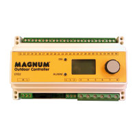 MAGNUM Din rail thermostaat, temperatuur/vocht