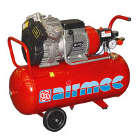 Airmec mobiele olievrije zuigercompressor