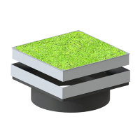 Varitank grasdekselset, vierkant