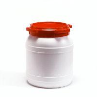 Wijdmonds vloeistofvat met schroefdeksel, zonder handgrepen