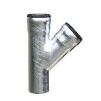 Loro-X T-stuk 45°, thermisch verzinkt staal