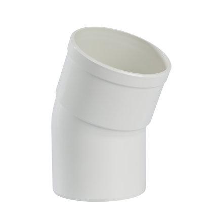 Pipelife hwa bocht 22°, pvc, inwendig lijm x spie, wit, 80 mm