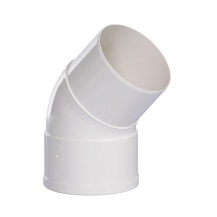 Pipelife hwa bocht 45°, pvc, inwendig lijm x verjongd spie, wit, 80 mm