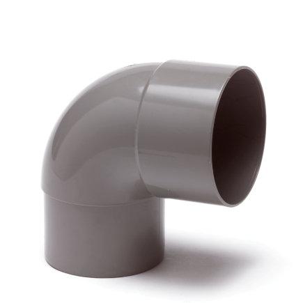 Hwa bocht 87°, pvc, inwendig lijm x verjongd spie, grijs, 60 mm