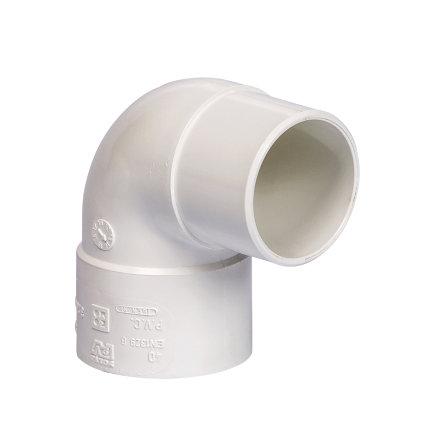 Pipelife hwa bocht 87°, pvc, inwendig lijm x verjongd spie, wit, 80 mm