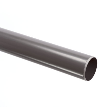 Pvc afvoerbuis met gladde einden, grijs, RAL 7037, KOMO, SN4, l = 5 m, 110 x 3,2 mm