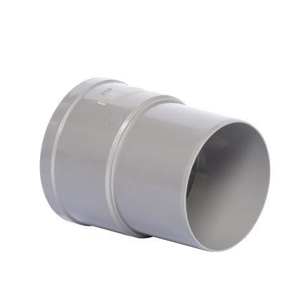Pipelife hwa mof, pvc, inwendig lijm x verjongd spie, grijs, 80 mm