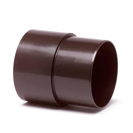 Hwa mof, pvc, inwendig lijm x verjongd spie, bruin, 70 mm  default 435x435