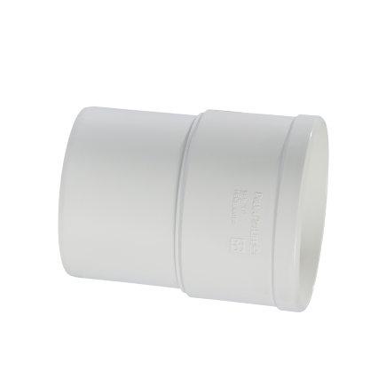 Pipelife hwa mof, pvc, inwendig lijm x verjongd spie, wit, 100 mm