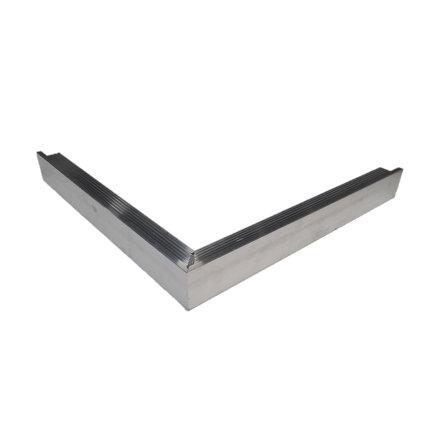 Daktrim buitenhoek blank aluminium, standaard 35 x 35 mm