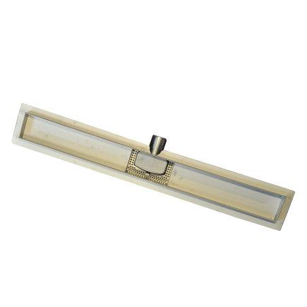 W-drain douchegoot met flens, rvs, deuruitvoering, exclusief rooster, l = 600 mm  default 435x435