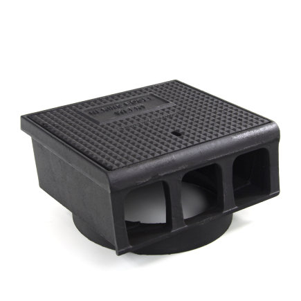 Gietijzeren trottoirkolk, exclusief onderbak, 2-delig, dicht deksel, BS 442 LD /OB 315, 400 x 350 mm