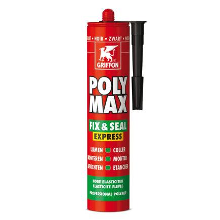 Griffon Poly Max Fix & Seal Express montagekit, zwart, koker à 425 gr  default 435x435