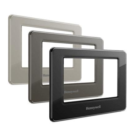 Honeywell Evohome verwisselbare frontcover set, 3 stuks zwart, metaal en wit, type ATF700