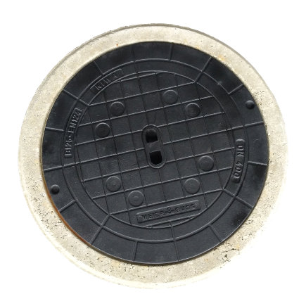 HeitkerBloc dichte putafdekking betonrand tbv filterput 400 klasse B, inclusief gietijzerendeksel  default 435x435