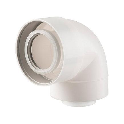 Ubbink UbiFit bocht 87°, concentrisch, met push-fit, pp, wit, 60/100 mm