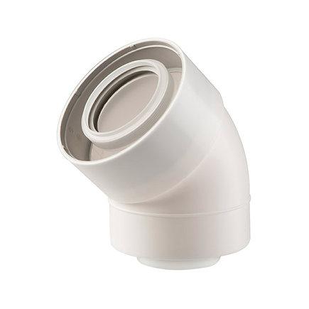Ubbink UbiFit bocht 45°, concentrisch, met push-fit, pp, wit, 60/100 mm