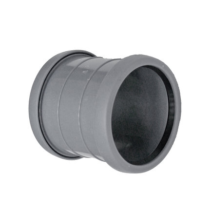 Pipelife Topfit pp overschuifmof, 2x manchet, grijs, KOMO, 40 mm