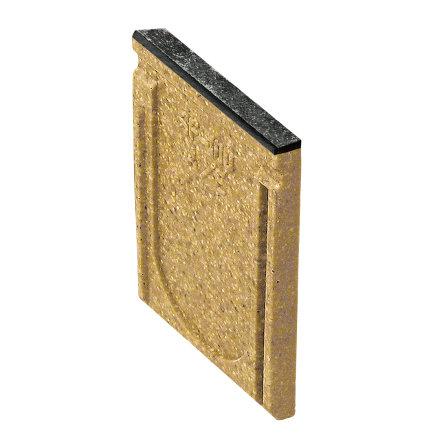 Anrin eindstuk voor lijngoot, type SF-100, gietijzeren rand, zonder uitloop, 26,5 cm