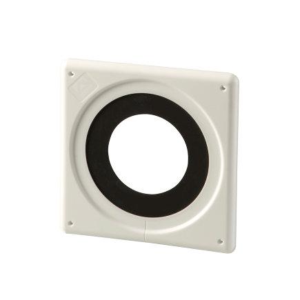 Ubbink doorvoermanchet, luchtdicht, kunststof, wit, 100 - 131 mm, dakhelling 0°