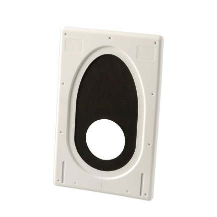 Ubbink luchtdicht dakdoorvoermanchet, kunststof, wit, 100 - 131 mm, dakhelling 0 - 55°