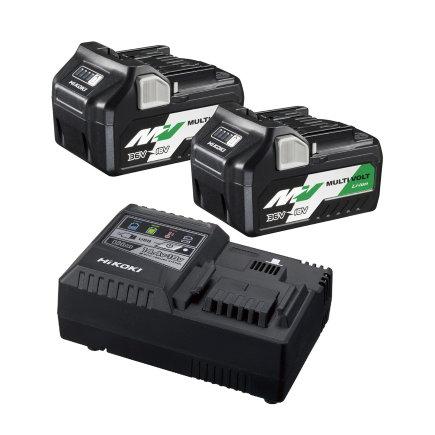 HiKOKI boosterpack, type UC18YSL3 WEZ, 2 pack, (BSL36A18 x2 + UC18YSL3)