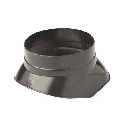 Ubbink dakdoorvoerschaal 131, voor dakdoorvoer 110, kunststof, zwart