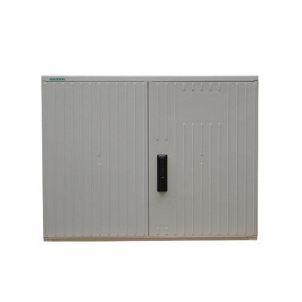 Geyer kast, polyester, lichtgrijs, IP44, GR2/870, 870 x 1115 x 320 mm