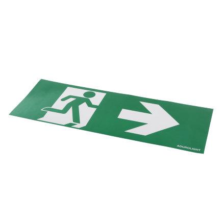 Adurolight® pictogram sticker noodverlichting, pvc, pijl naar rechts