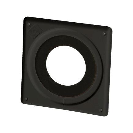 Ubbink gevelmanchet, kunststof, zwart, 100 - 131 mm, dakhelling 0°