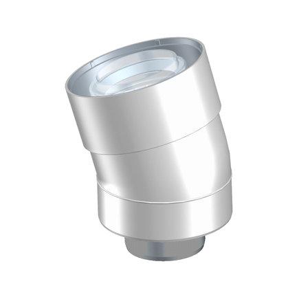 Ubbink UbiFit bocht 15°, concentrisch, met push-fit, pp, wit, 60/100 mm