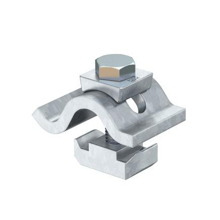 OBO spanklem met glijmoer, staal, verzinkt, M10 x 50 mm
