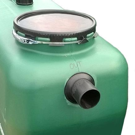 Überlaufanschluss für Regenwassertank, PE, Aufpreis, Ø110mm geschweißt